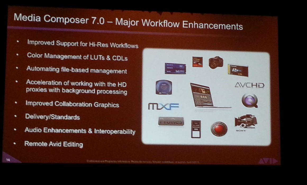 Avid Media Composer 7 NAB 2013 Announcements