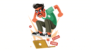 Man-Angry-with-Laptop-Computer-Vector-Illustration